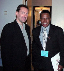 Michael with Wayne Shorter